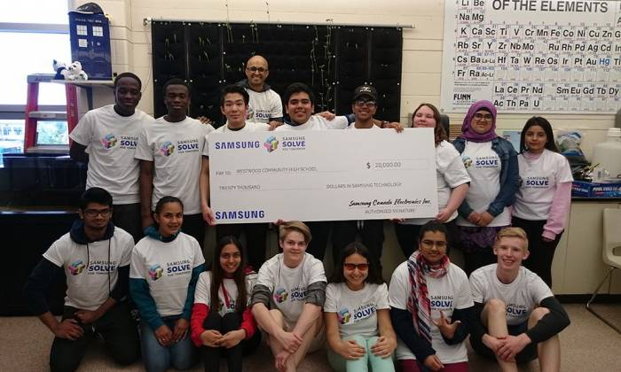 Westwood Named One of Four National Winners of Samsung Canada's Solve for Tomorrow Challenge