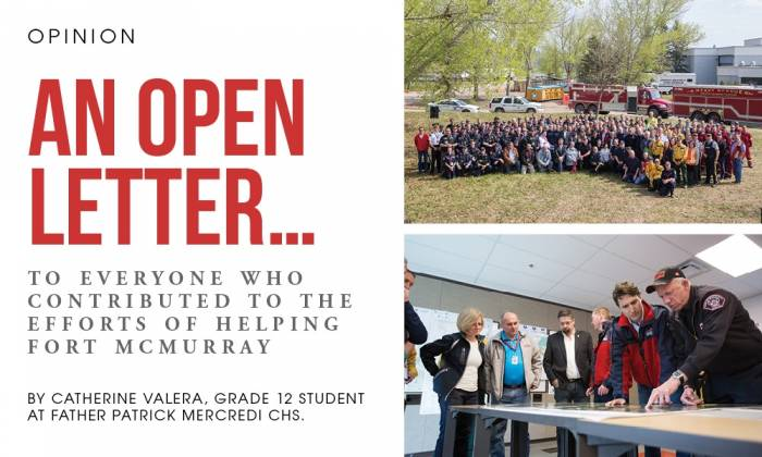 An Open Letter to everyone who contributed to the efforts of helping Fort McMurray