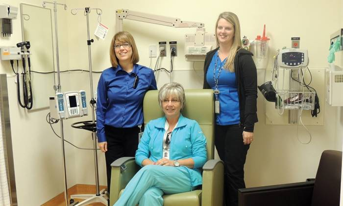 New Chair Improves Comfort for Patients of Community Cancer Clinic