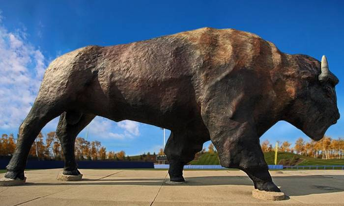 The World's Largest Buffalo Monument is set to call MacDonald Island Park home